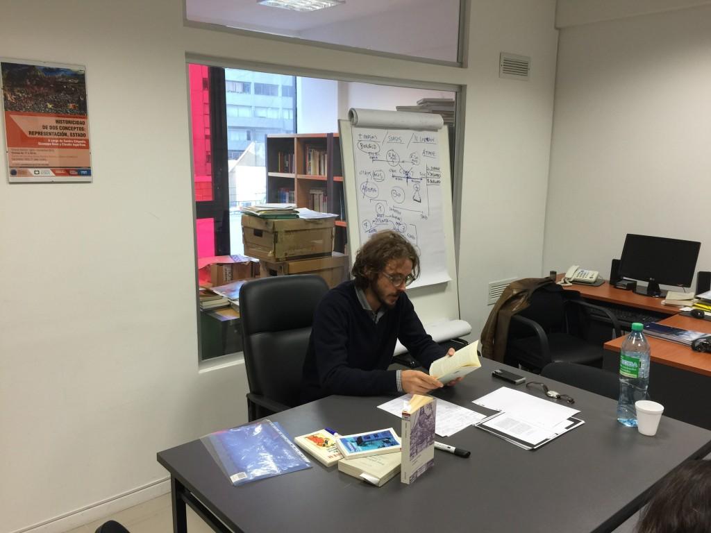 Francesco Callegaron en la Maestría en Historia Conceptual