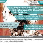 Seminario Breve de Posgrado: La sociología como ciencia política