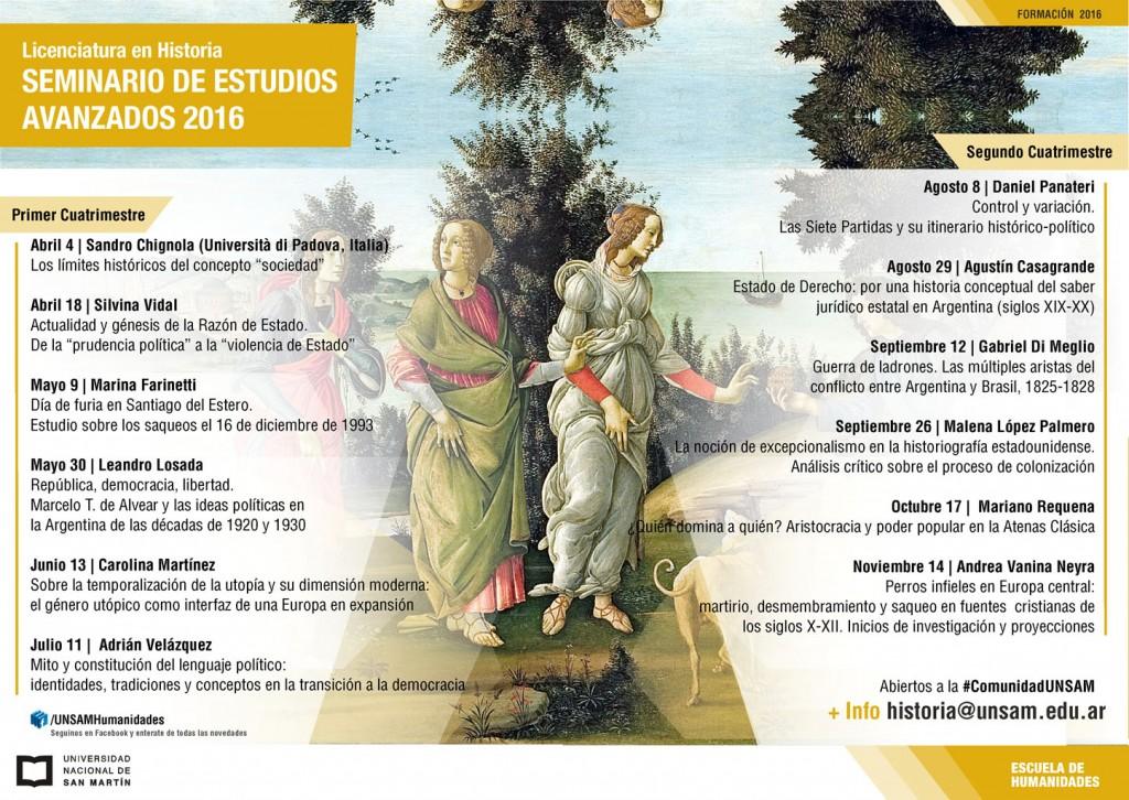 Programa del Seminario de Estudios Avanzados 2016