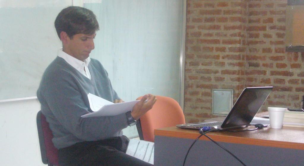 Sebastián Provvidente en el Seminario de Estudios Avanzados