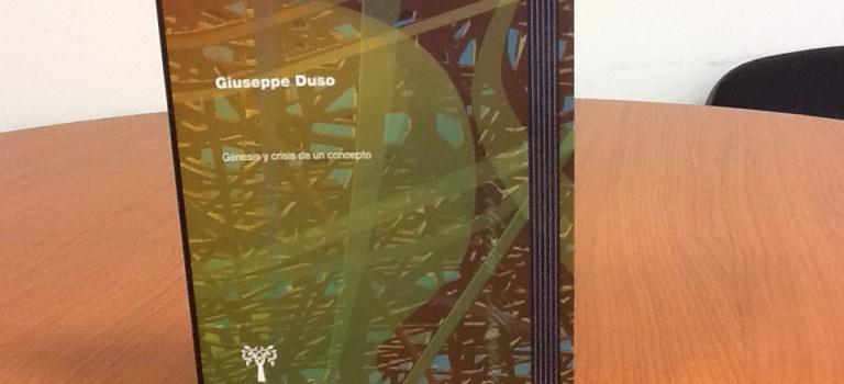 Novedad editorial: «La representación política. Génesis y crisis de un concepto» de Giuseppe Duso